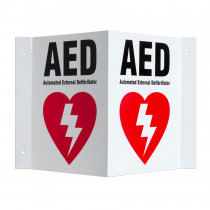 Three-way Wall Sign - Defibtech