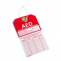 AED Inspection Tag - Defibtech