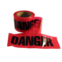 """Danger"" Caution Tape - 3"" x 300' - Red - Mayday"