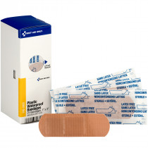 "1"" X 3"" Adhesive Plastic Waterproof Bandages, 25 Per Box - SmartTab EzRefill - SmartCompliance"