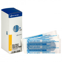 "1"" X 3"" Blue Metal Detectable Bandages, 40 Per Box - SmartTab EzRefill - SmartCompliance"