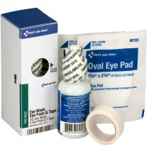 Eye Care Kit, 1 oz. Eyewash, 2 Oval Eye Pads and Tape Roll - SmartTab EzRefill - SmartCompliance