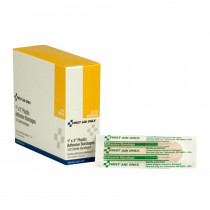 """Adhesive Bandage, Plastic 1 x 3"""" - 100 Per Box - First Aid Only"""