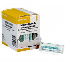 Butterfly Wound Closure, Medium - 100 Per Box - First Aid Only
