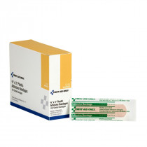 """Adhesive Bandage, Plastic 3/4"""" x 3"""" - 100 Per Box - First Aid Only"""