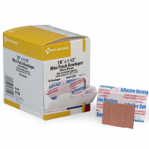 Patch Bandage, Heavy Woven Mini - 50 Per Box - First Aid Only