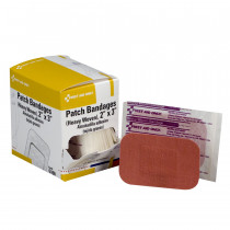 "2""x3"" Patch Bandage, Heavy Woven - 25 Per Box - First Aid Only"