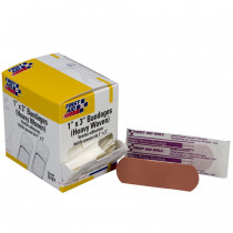 "Adhesive Bandage, Heavy Woven 1""x3"" - 50 Per Box - First Aid Only"