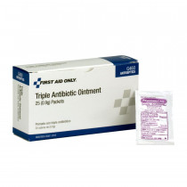 Triple Antibiotic Ointment, .5 gm - 25 Per Box - First Aid Only