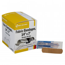 "Adhesive Bandage, Fabric 3/4"" - 100 Per Box - First Aid Only"