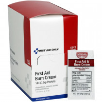 First Aid/Burn Cream, .9 gm. - 144 Per Box - First Aid Only