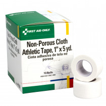 "Athletic Tape - Non-Porous Cloth 1"" x 5 yd. - 10 Per Box - First Aid Only"