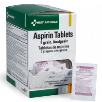 Aspirin Tablets - 5 Grain - 250 Per Box - First Aid Only