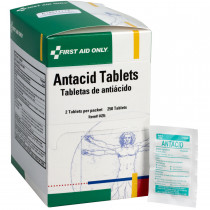 Antacid Tablets - 250 Per Box - First Aid Only