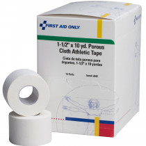 "Athletic Tape - Porous Cloth 1-1/2"" x 10 yd. - 16 Per Box - First Aid Only"