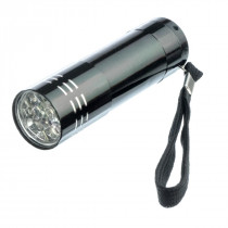 Mini Aluminum Flashlight, Uses 3 AAA Batteries - Mayday