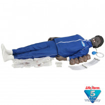 CPARLENE Full Manikin w/ Electronic Connections - Black - CPARLENE