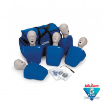 CPR Prompt 5-Pack Adult/Child Training Manikin - Blue - CPR Prompt