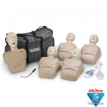 CPR Prompt 5-Pack Adult/Child Training Manikin - Tan - CPR Prompt