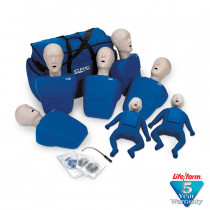 CPR Prompt 7-Pack Manikins - 5 Adult/Child & 2 Infant - Blue - CPR Prompt