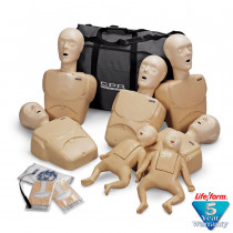 CPR Prompt 7-Pack Manikins - 5 Adult/Child & 2 Infant - Tan - CPR Prompt