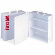 Empty Metal Industrial Cabinet Swing Out Door - 3 Shelf - First Aid Only