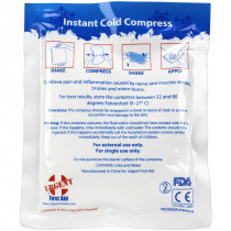 "Instant Cold Compress, 4""x5"" - 1 Each - Urgent First Aid"