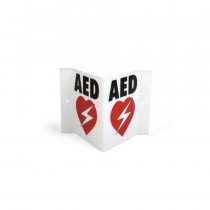 Triangular AED Wall Sign - HeartSine
