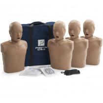 Prestan Child CPR Manikin w/o Monitor - 4 Pack - Dark Skin - Prestan Products