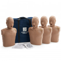 Prestan Child CPR Manikin w/ Monitor - 4 Pack - Dark Skin - Prestan Products