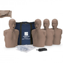 Prestan Adult Jaw Thrust CPR Manikin w/o CPR Monitor - 4 Pack - Dark Skin - Prestan Products