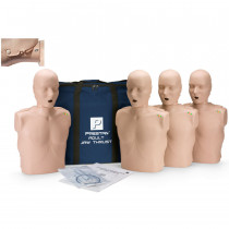 Prestan Adult Jaw Thrust CPR Manikin w/ CPR Monitor - 4 Pack - Medium Skin - Prestan Products