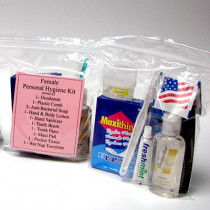 13 Piece Personal Hygiene Kit (Female) - Mayday