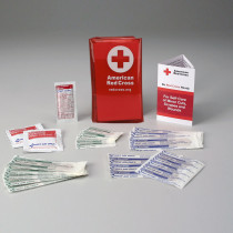 Mini First Aid Kit w/ Tri-Fold Vinyl Case - American Red Cross