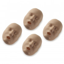 Replacement Faces for Prestan Adult Manikins - 4 Pack - Dark Skin - Prestan Products