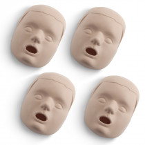Replacement Faces for Prestan Child Manikins - 4 Pack - Medium Skin - Prestan Products
