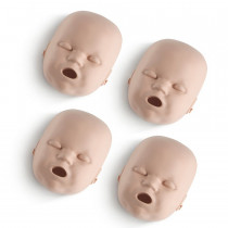 Replacement Faces for Prestan Infant Manikins - 4 Pack - Medium Skin - Prestan Products