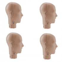 Prestan Adult Manikin Jaw Thrust Head Assembly - 4 Pack - Medium Skin - Prestan Products