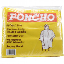 Adult Emergency Poncho Heavy Duty - Value Brand