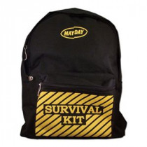 "Black Backpack w/ ""Survival Kit"" Imprint - Mayday"
