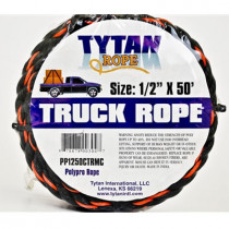"Black & Orange Rope 1/2"" x 50' - Value Brand"