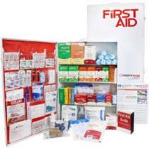 4 Shelf Industrial ANSI A+ First Aid Station, Pocketliner - 150 Person - Urgent First Aid