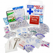 10 Person, 116 Piece Bulk Workplace First Aid Kit, Wall-Mountable and Portable Plastic Case with Gasket , Urgent First Aid