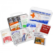 Bilingual OSHA Contractors First Aid Kit for Job Sites up to 25 People – Gasketed Plastic, 180 pieces, Urgent First Aid