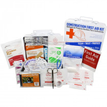 Bilingual OSHA Contractors First Aid Kit for Job Sites up to 25 People – Gasketed Metal, 180 pieces, Urgent First Aid
