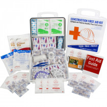 Bilingual OSHA Contractors First Aid Kit for Job Sites up to 50 People – Gasketed Plastic, 238 pieces, Urgent First Aid