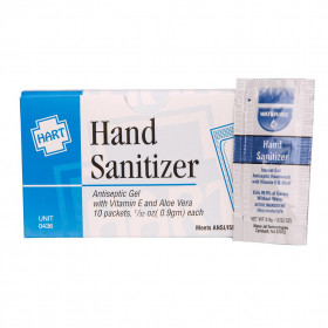 Hand Sanitizer, 10 Per Box, Hart Health