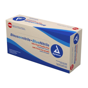 Powder Free Nitrile Gloves - Large - 100 Per Box - Value Brand