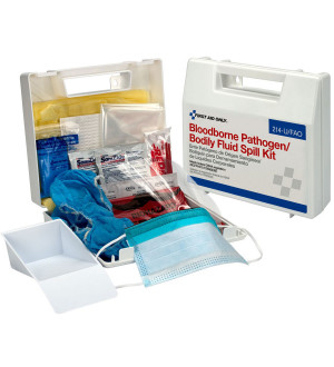 Bloodborne Pathogen and Bodily Fluid Spill Kit - 24 Pieces - Plastic - First Aid Only