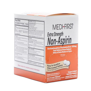 Extra-Strength Non-Aspirin Tablets - 100 Per Box - Medi-First